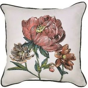 Outdoor Throw Pillow Square - Peony - Threshold